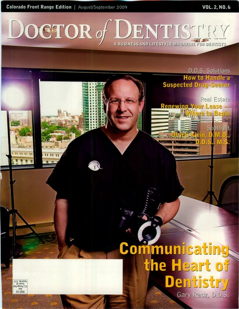 Doctor of Dentistry Magazine Cover